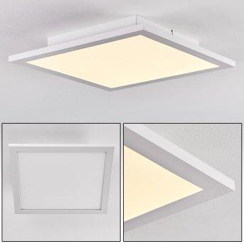 Salmi Plafoniera LED Alluminio, Bianco, 1-Luce