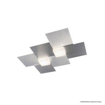 Grossmann CREO Applique e plafoniera LED Alluminio, 2-Luci