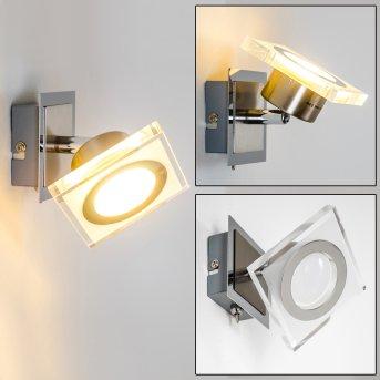 Kolari Faretto da parete LED Nichel opaco, Cromo, 1-Luce