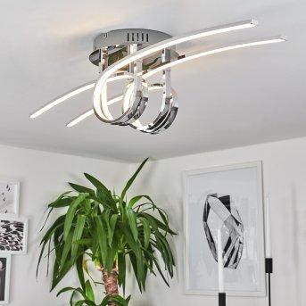 Casale Plafoniera LED Cromo, 2-Luci