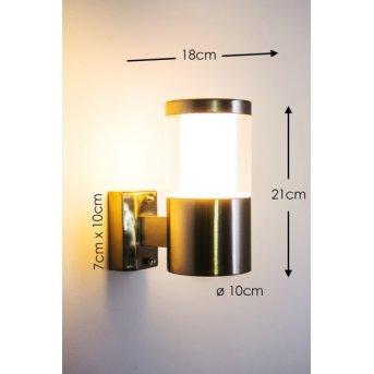 Leon Applique da esterno LED Acciaio inox, 1-Luce