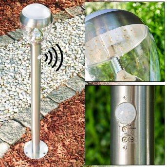 Sorken Lampioncino Segnapasso LED Acciaio inox, 1-Luce, Sensori di movimento