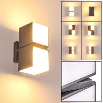 Swanek Applique da esterno LED Antracite, 2-Luci