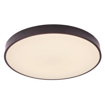 Plafoniera Brilliant Slimline LED Nero, Bianco, 1-Luce