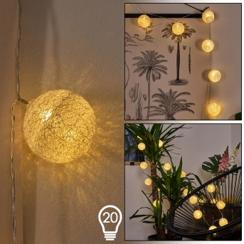 Sondrio Catenaria luminosa LED, 20-Luci