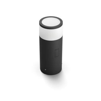 Philips Hue Ambiance White & Color Calla Piedistallo, set di estensione LED Nero, 1-Luce, Cambia colore