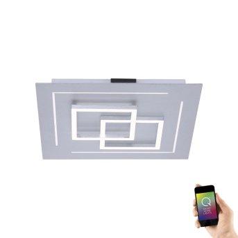 Paul Neuhaus Q-LINEA Plafoniera LED Alluminio, 1-Luce, Telecomando, Cambia colore
