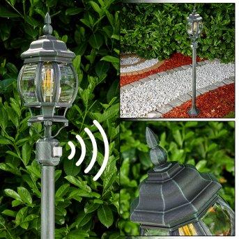 Lentua Lampada da terra per esterno Nero, Verde, 1-Luce, Sensori di movimento