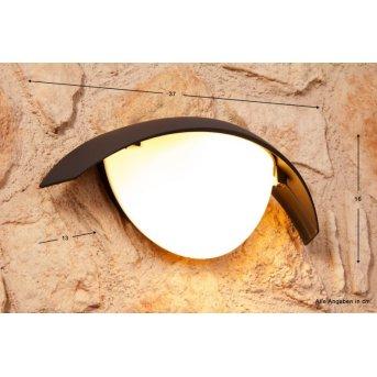 Lutec CLIP Applique per esterno Nero, Antracite, 1-Luce