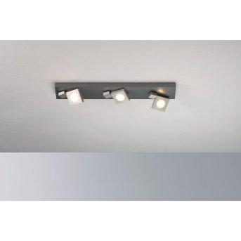 Bopp Flash Plafoniera LED Alluminio, 3-Luci