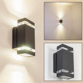 Lutak Applique per esterno LED Antracite, 2-Luci