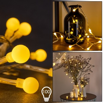 Sondrio Catenaria luminosa LED, 100-Luci
