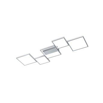 Trio Sorrento Plafoniera LED Alluminio, 1-Luce