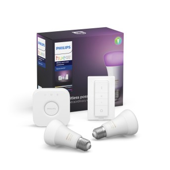 Philips Hue LED Ambiance White & Color E27 Starter-Set di 2