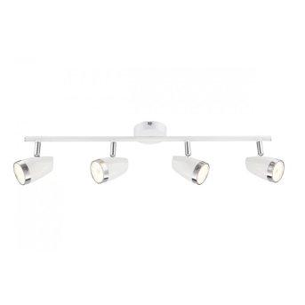 Globo Barra con faretti da soffitto LED Bianco, 4-Luci