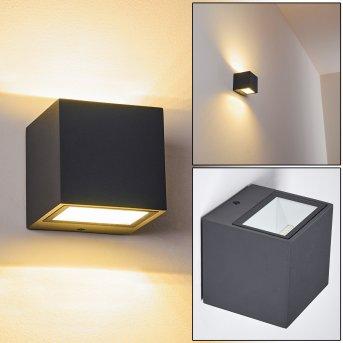 Spidern Applique da esterno LED Antracite, 1-Luce