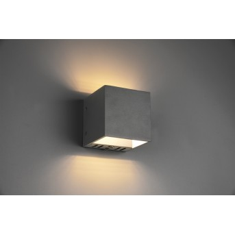 Trio Figo Applique LED Nero, 1-Luce, Telecomando, Cambia colore