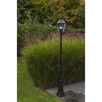 Lutec London Lampada segnapasso LED Nero, 3-Luci
