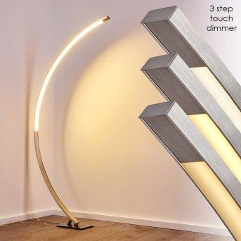 Ruswil Lampada da terra LED Nichel opaco, 1-Luce
