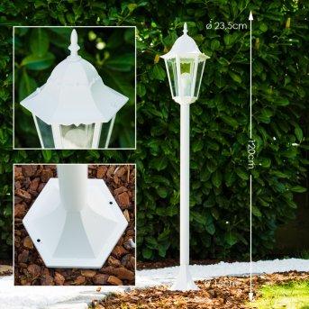 Bristol Lampada da terra per esterno Bianco, 1-Luce