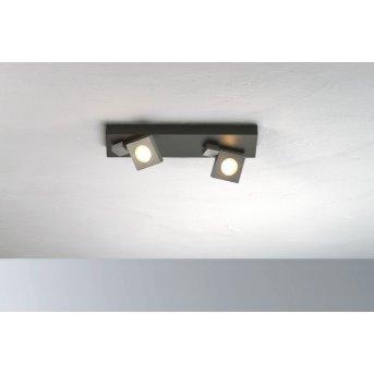 Bopp Flash Plafoniera LED Nero, Antracite, 2-Luci