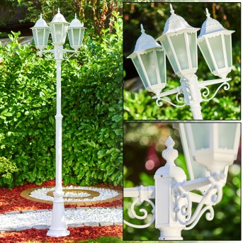 Lutec Hongkong Lampione Bianco, 3-Luci