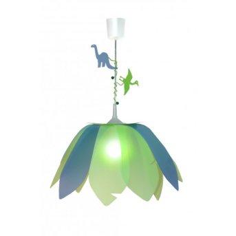 Waldi Lampada a sospensione Dinosauro Verde, 1-Luce