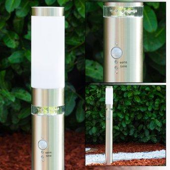 Avize Lampada da terra per esterno Acciaio inox, 1-Luce, Sensori di movimento