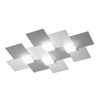 Grossmann CREO Plafoniera LED Alluminio, 4-Luci