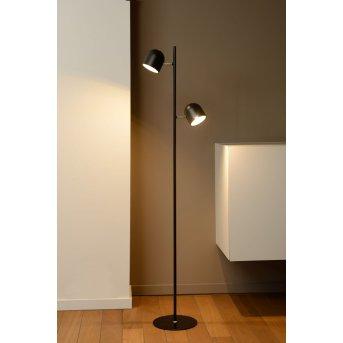 Lucide SKANSKA Lampada da terra LED Nero, 2-Luci