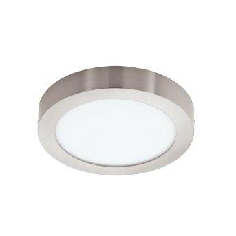 Eglo FUEVA-C Plafoniera LED Nichel opaco, 1-Luce, Cambia colore