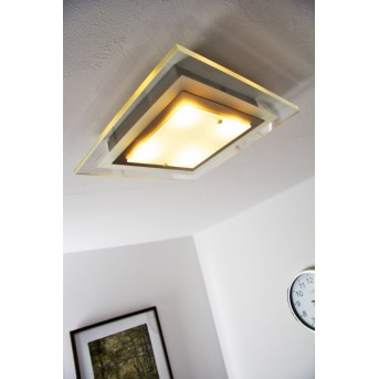 Masterlight Plafoniera LED Nichel opaco, 4-Luci