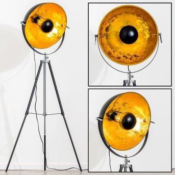 Saturn Lampada da terra Cromo, Nero, 1-Luce
