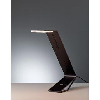 Tecnolumen Flad Lampada da tavolo LED Nero, 1-Luce