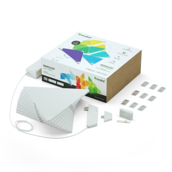 nanoleaf Rhythm Starter Kit Applique LED Bianco, 1-Luce, Telecomando, Cambia colore
