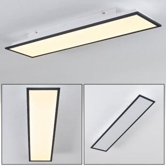 Salmi Plafoniera LED Nero, Bianco, 1-Luce