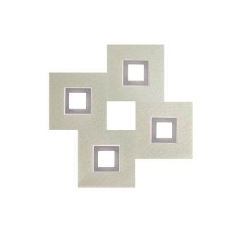 Grossmann KARREE Applique e plafoniera LED Alluminio, Titanio, 4-Luci