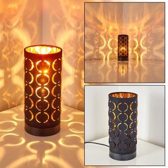 Faborg Lampada da Tavolo Nero, 1-Luce