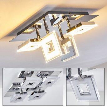 Krakau Faretto da soffitto LED Cromo, 4-Luci