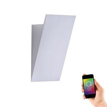 Paul Neuhaus Q-WEDGE Applique LED Alluminio, 1-Luce, Telecomando, Cambia colore