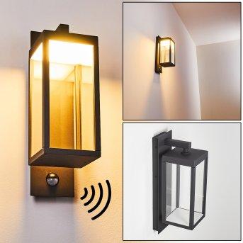 Faroer Applique da esterno LED Antracite, 1-Luce, Sensori di movimento