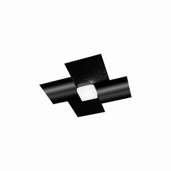 Grossmann CREO Applique e plafoniera LED Nero, 1-Luce