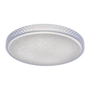Leuchten Direkt Ls-FRIDA Plafoniera LED Trasparente, chiaro, 1-Luce, Telecomando, Cambia colore