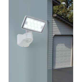 Lutec PERI Faretto da parete per esterno LED Bianco, 1-Luce, Sensori di movimento