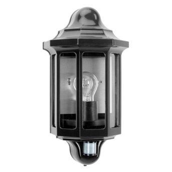 KS Verlichting Loreo Applique Nero, 1-Luce, Sensori di movimento