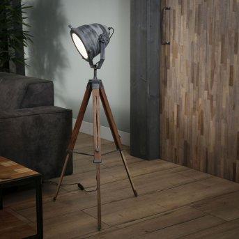 Aelderholt Lampada da terra Grigio, Legno scuro, 1-Luce