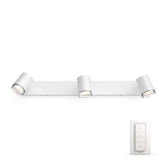 Philips Hue Ambiance White Adore faretto Bianco, 3-Luci, Telecomando