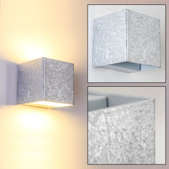 Olbia Applique LED Argento, 1-Luce