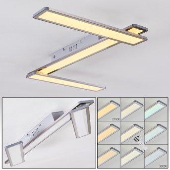 Mirabo Plafoniera LED Bianco, 3-Luci, Telecomando