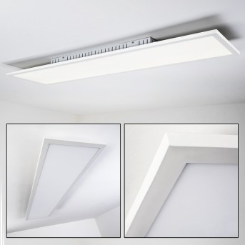 Salmi Plafoniera LED Bianco, 1-Luce